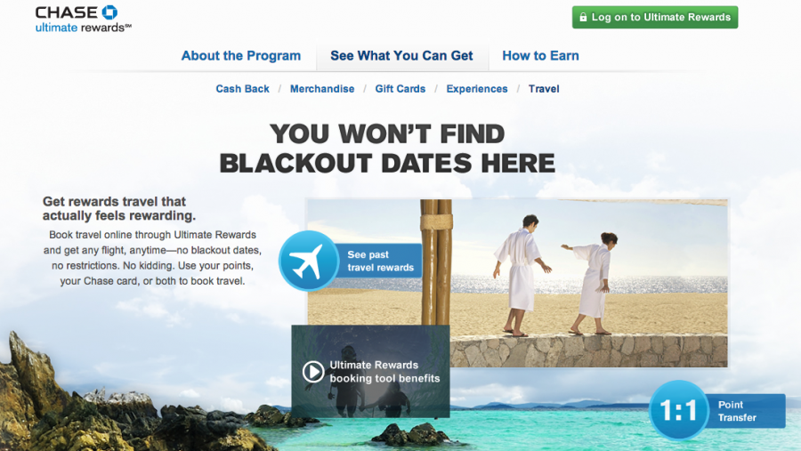 Redeeming Chase Ultimate Rewards directly through the travel portal doesn't provide the best value