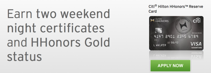 New Citi Hilton Reserve cardholders can earn two free weekend nights at almost any Hilton property worldwide.