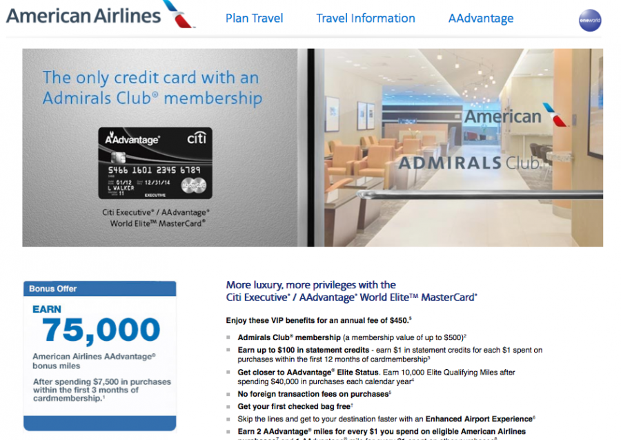 Though lower than recent offers, the Citi Executive AAdvantage card's 75k bonus is still worth applying for.