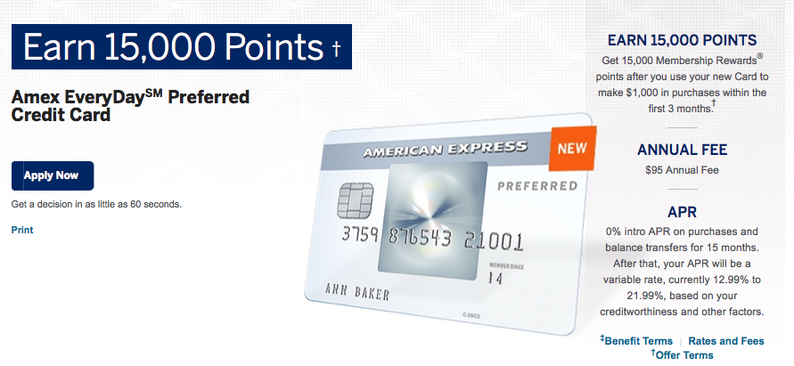 Amex introduced the new EveryDay cards in March.
