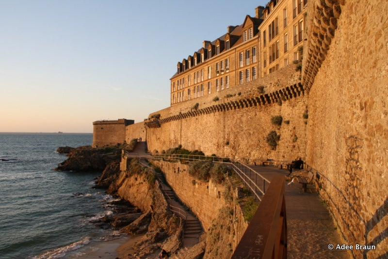 End the day with a stroll along the St. Malo ramparts