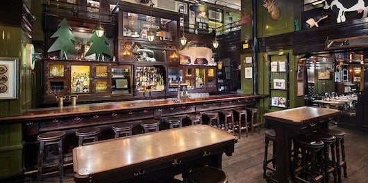 Tuck into the Breslin at the Ace Hotel for gastropub fare