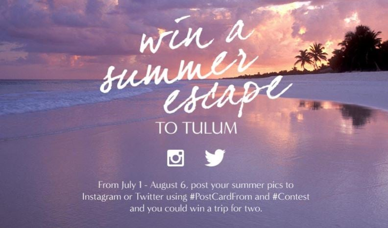 Win a trip to Tulum