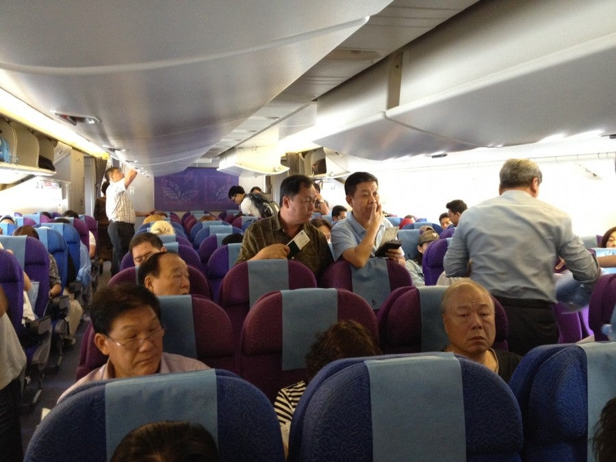 A shot of the central row of the main cabin.