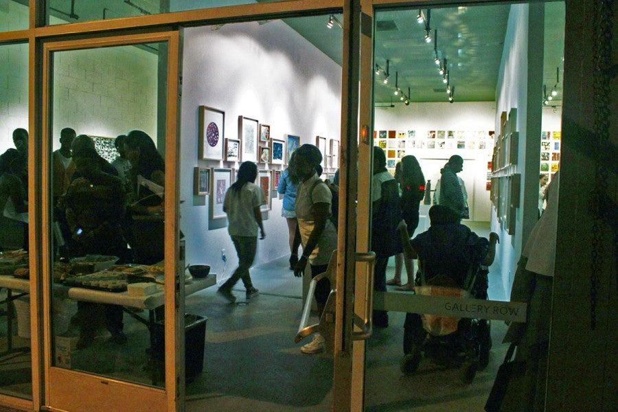 DAC Gallery during a recent Art Walk night (photo courtesy of DAC Gallery)