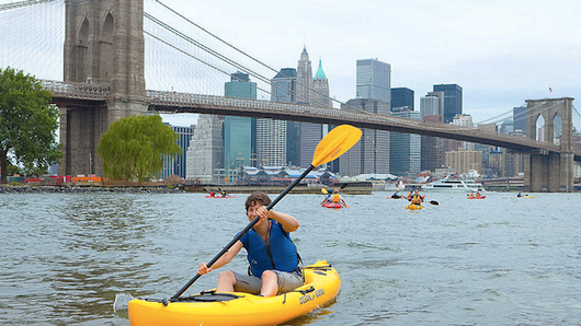 Who knew kayaking was a thing in NYC?