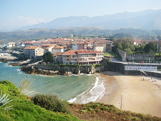 The tiny town of Llanes in Asturias