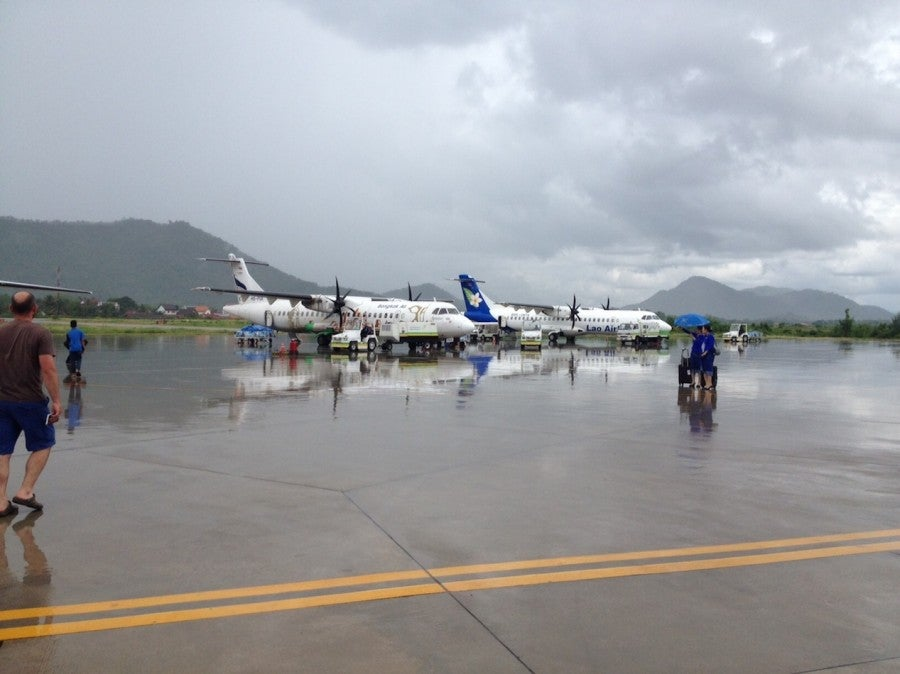 It was a stormy day in Luang Prabang, but my Bangkok Airways flight still made it out on time.