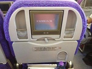 My seatback monitor had an issue.