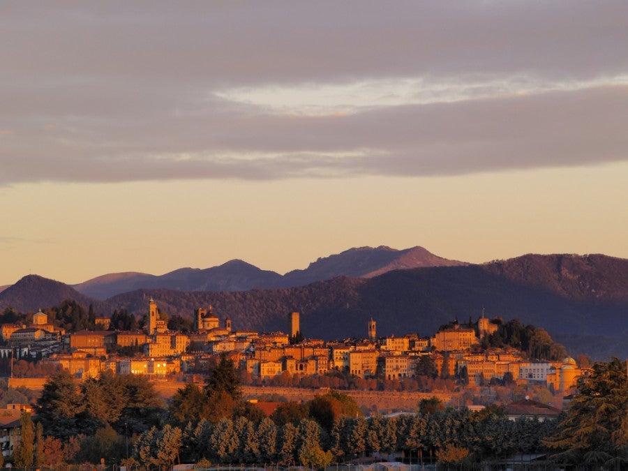 The Citta Alta (High City) of Bergamo. Image courtesy of  Karol Kozlowski via Shutterstock