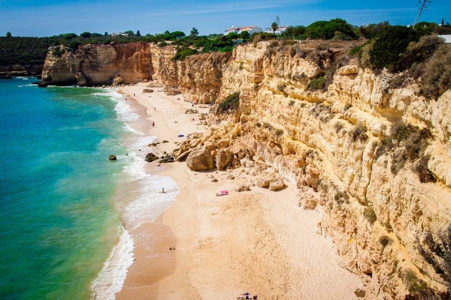Senhora da Rocha beach in Portugal