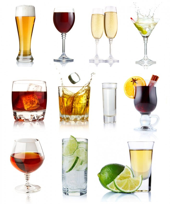 You may not have this many options to choose from for your free drink, but at least you get one free beer, wine or cocktail