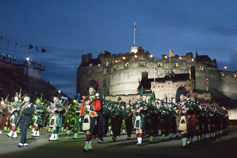 A shot from the 2006 Edinburgh Military Tattoo Festival. Image courtesy of Shutterstock