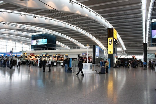 A terminal at London's Heathrow Airport