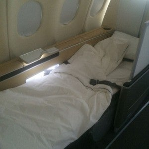 62,500 Amex points recently got me first class Lufthansa on the way home from Europe