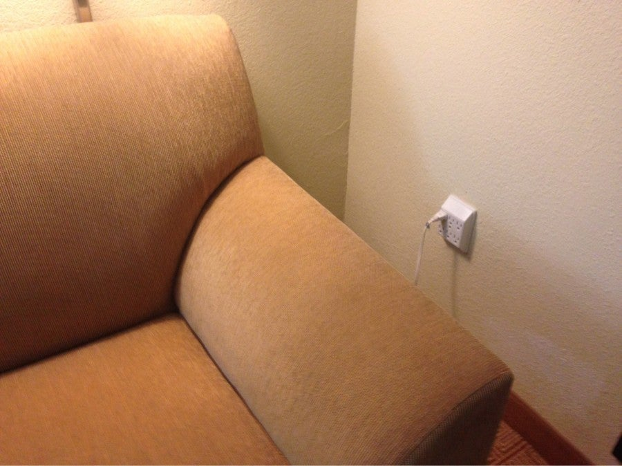 This six-plug adapter greeted me in Sarasota last month.