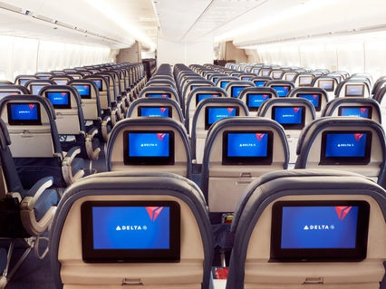 Delta features embedded in-flight entertainment on 140 of its planes