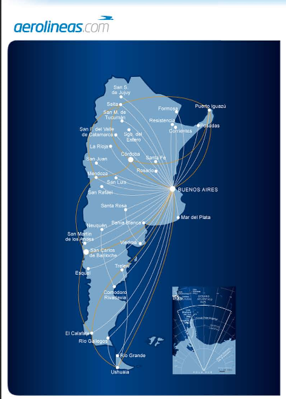 Take advantage of Aerolineas Argentinas's extensive route network.