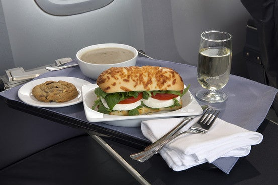 United is enhancing their first class meals on domestic flights.