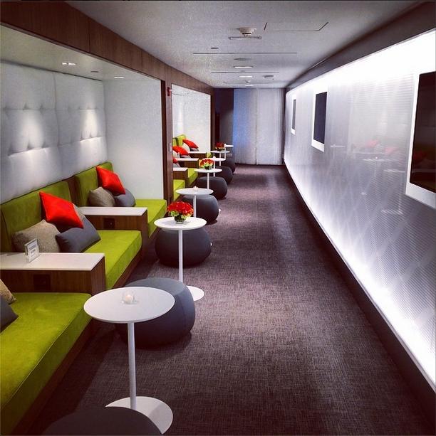 Centurion Lounge nooks LaGuardia
