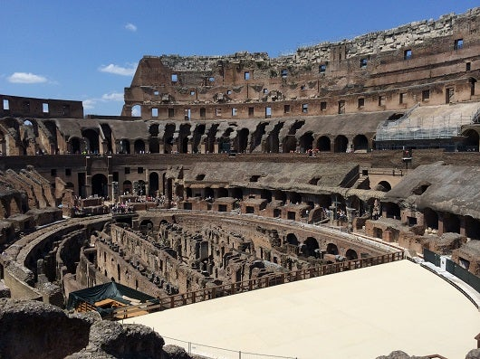 Out tour of the Colosseum was one of the highlights of our visit to Rome.