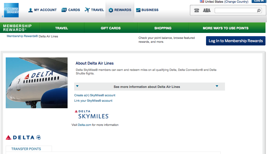 Delta is a 1:1 transfer partners of Amex Membership Rewards.