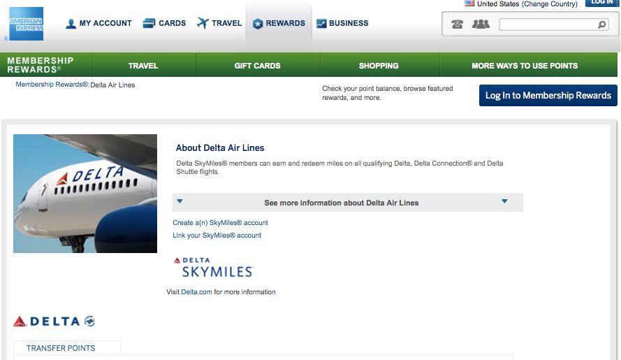 Delta is a 1:1 transfer partners of Amex Membership Rewards.