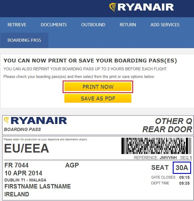 The illustrious Ryanair paper boarding pass is worth 15 to 70 Euros if you don't print it prior to your arrival at the airport.