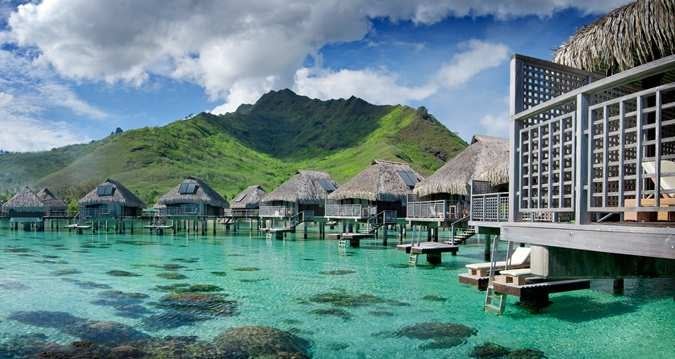 Your Citi Hilton Reserve card would earn you 10 points/$ with no foreign transaction fees at resorts like the Hilton Moorea.