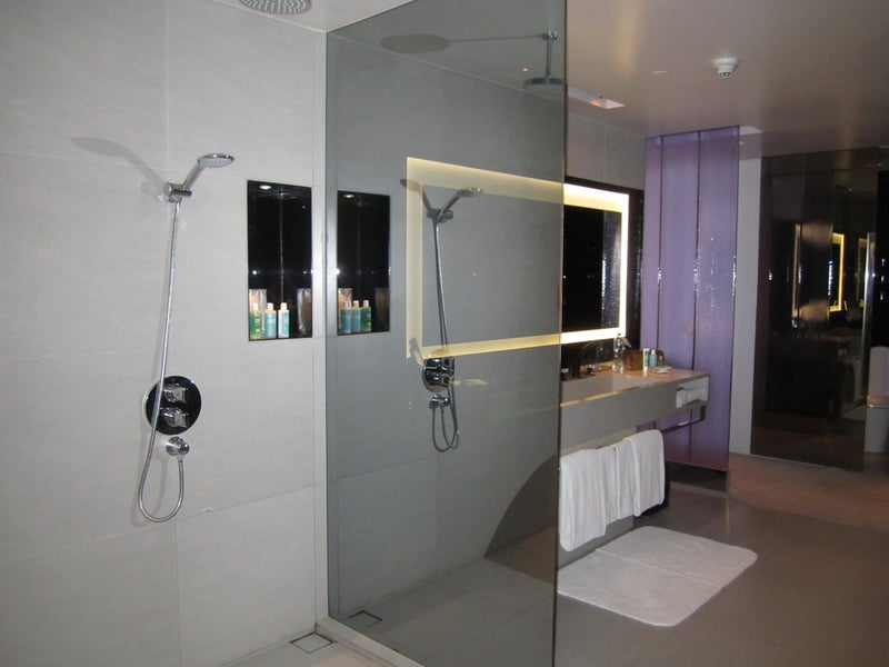 The shower area of the bathroom