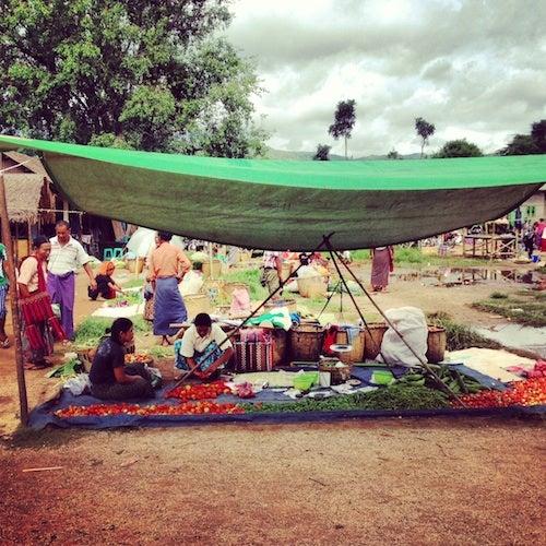 Market day in Indein.