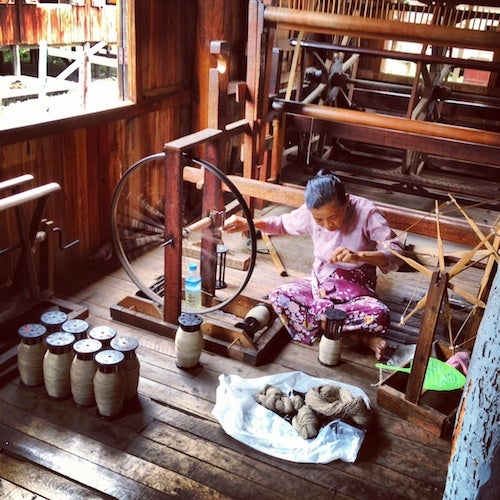 A visit to the lotus and silk-weaving workshop was fascinating.