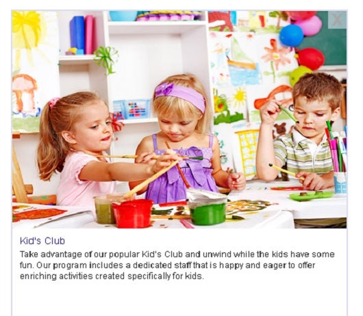 Some Holiday Inn Resorts feature kids clubs.