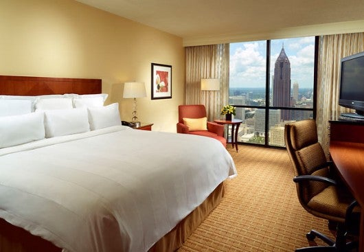 A King City View Room at the Atlanta Marriott Marquis