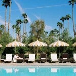 Le Meridien Palm Springs pool area.