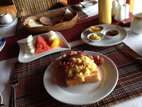 Breakfast was included in the room rate.