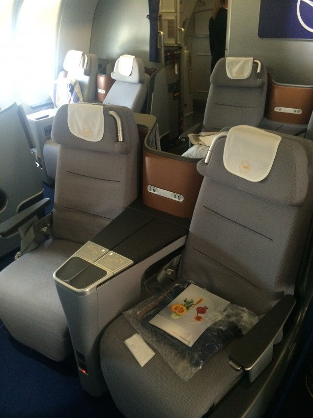 Lufthansa's new business class aboard the A330
