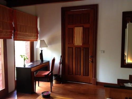 Just inside the door to my villa.