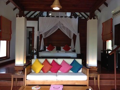 The main room of my villa.