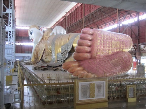 The reclining Buddha's feet are fascinating.