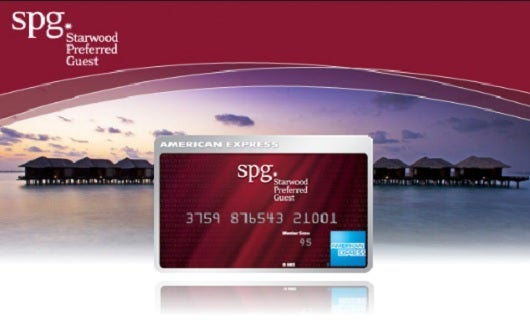 The Starwood Preferred Guest card from American Express are the only credit cards that directly earn Starwood points.