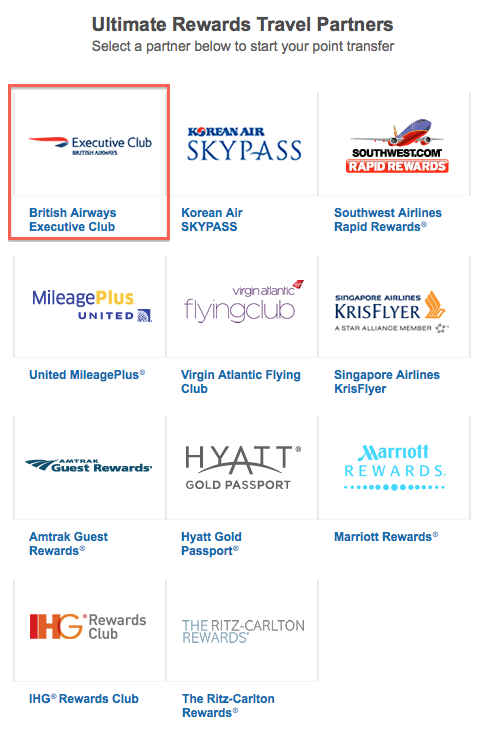 British Airways has the added advantage of being a Chase Ultimate Rewards transfer partner as well.