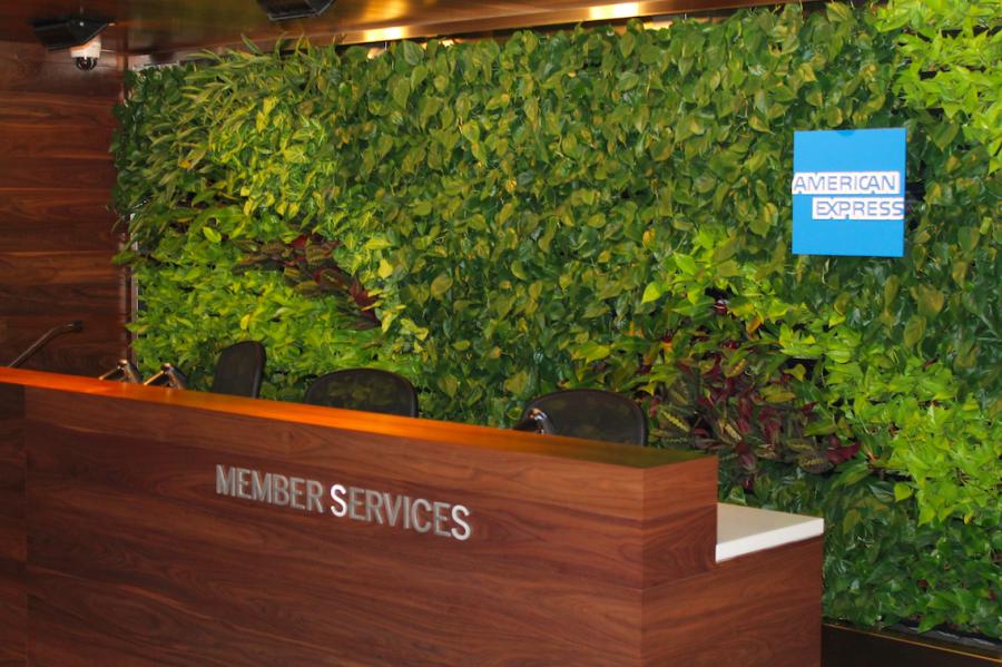 Front desk at the American Express Centurion Lounge, LaGuardia Terminal B