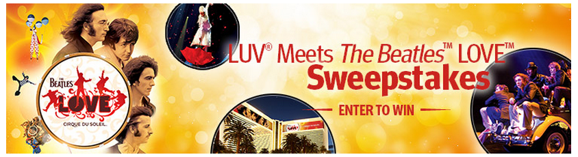 Southwest is giving away a two-night trip to Vegas, including tickets to Cirque du Soleil's LOVE.