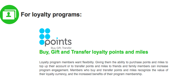 Points.com will allow you to buy and transfer points to other people.
