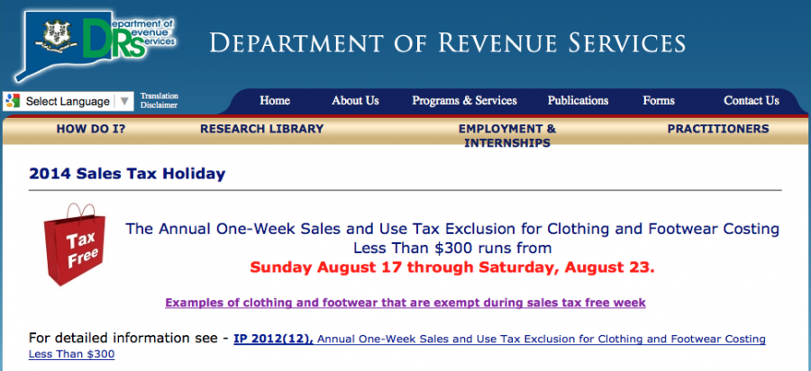 Sales tax holidays (like next week's one in Connecticut) can be a valuable money-saver for back-to-school shopping.