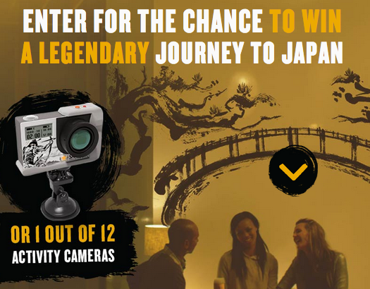 Sapporo is giving away an eight-day trip to Tokyo and HD Activity Cameras
