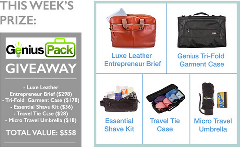 Enter to win the Genius Pack giveaway on our Facebook Page: www.facebook.com/ThePointsGuy