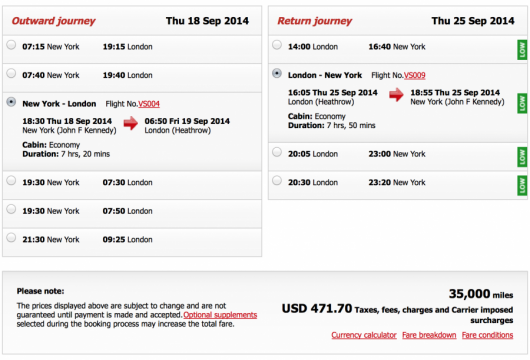 Redeeming directly on Virgin Atlantic can come with some hefty fuel surcharges.