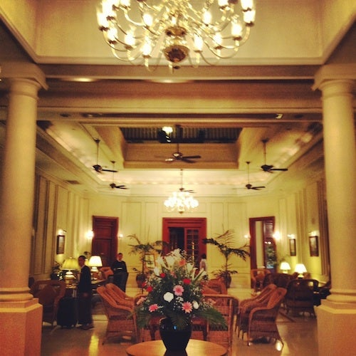 The colonial-era lobby of The Strand.